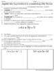 Algebraic Expressions and Combining Like Terms Notes
