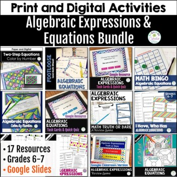 Algebraic Expressions and Equations Bundle