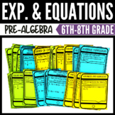 Algebraic Expressions and Equations Task Bundle