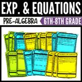 Algebraic Expressions and Equations Bundle - Classroom & D