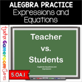 Algebraic Expressions and Equations Powerpoint Game