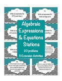 Algebraic Expressions and Equations Stations