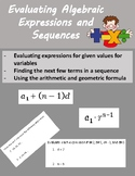 Algebraic Expressions and Sequences Quiz