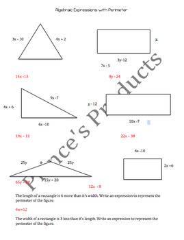 Algebraic Expressions with Perimeter 7. EE.4