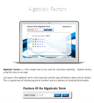 Algebraic Factors Software with Instructions
