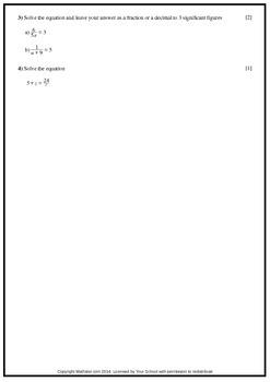 Algebraic Fractions