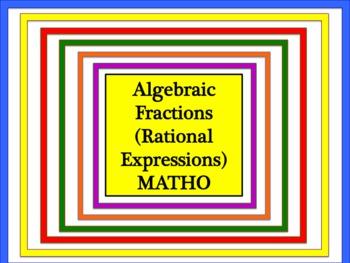 Algebraic Fractions (Rational Expressions) MATHO