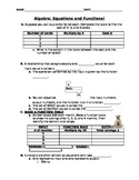 Algebraic Functions Intro guided notes