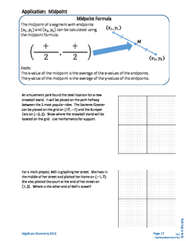 Algebraic Geometry Unit