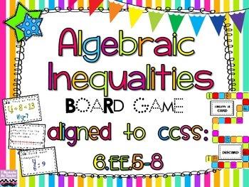 Algebraic Inequalities Board Game