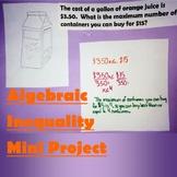 Algebraic Inequality Review Mini Project