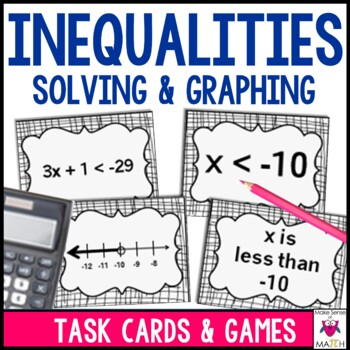 Inequality Task Cards Middle School Math