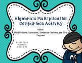 Elementary Algebra Multiplication Comparison Activity - TEKS Aligned 3.5C, 3.4K