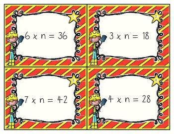 Algebraic Multiplication and Division Equation Math Station