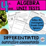 4th Grade Algebraic Thinking Unit Tests Review 4.OA (differentiated tests)