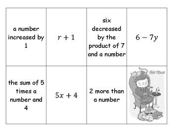 Algebraic Phrases Old Maid