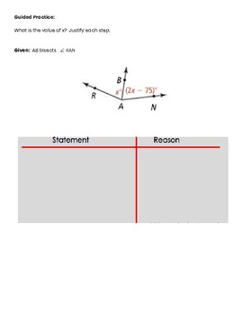 Algebraic Proofs Guided Notes
