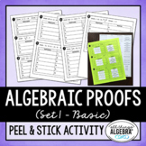 Algebraic Proofs Peel and Stick Activity