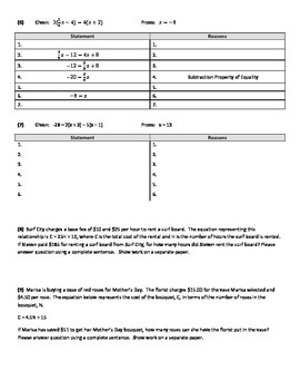 Algebraic Equations and Proofs