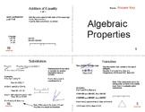 Algebraic Properties Foldable Booklet
