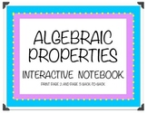 Algebraic Properties Interactive Notebook and Matching Activity