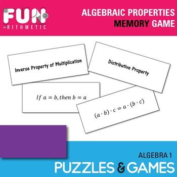 Algebraic Properties Memory Game