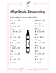 Algebraic Reasoning - Basic
