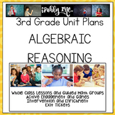 3rd Grade Lesson Plans Algebraic Reasoning 3.4K 3.5A 3.5B 3.5E 3.6D 3.8B