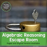 Solving Equations Middle School Math Escape Room--Paper an