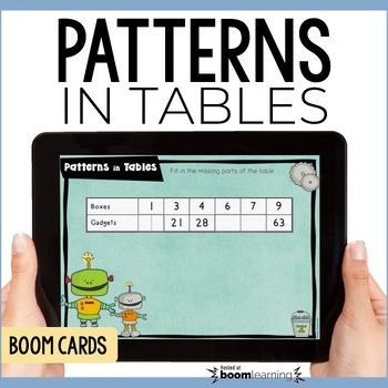 Algebraic Reasoning: Patterns in Tables Digital Task Cards