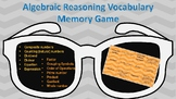 Algebraic Reasoning Vocabulary Memory Game