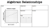 Algebraic Relationships -Graph, Table, Equation Indep/Dependent TEKS 6.6C