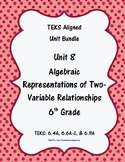 Algebraic Rep. of Two-Variable Relationships-(6thGradeMathTEKS 6.4A,6.6A-C&6.11)