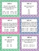 Algebraic Representation Math Cards - Set of 12