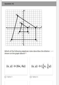 Algebraic Representations of Dilations- for use with Google Forms