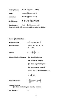 Algebraic Structures and the Algebra of Numbers (Handout / Study Aid)