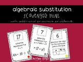 Algebraic Substitution Scavenger Hunt AND Independent Practice
