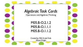 Algebraic Task Cards