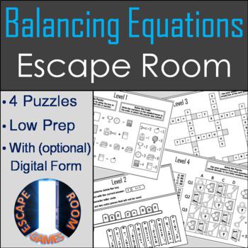 Algebraic Thinking: Balancing Equations Activity: Escape ...
