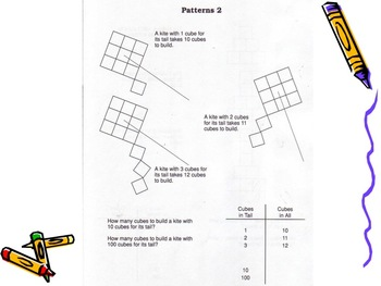 Algebraic Thinking - Patterns and Writing Rules/Equations w/ Rainbow Cubes
