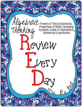 Algebraic Thinking - R.E.D. (Review Every Day)