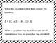 Algebraic Thinking Stations/Task Cards
