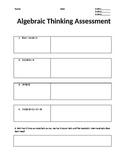 Algebraic Thinking Summative