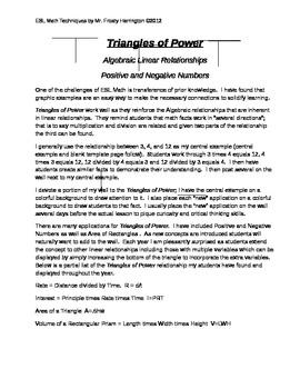 Algebraic Thinking Triangles of Power