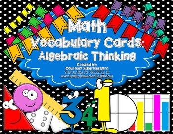 Vocabulary Cards-Prime/Composite, Factors/Multiples, Order