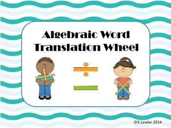 Algebraic Word Translator
