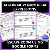 Algebraic & Numerical Expressions Digital Escape Room Dist