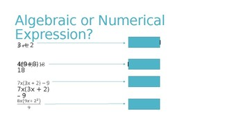 Algebraic and Numerical Expressions Interactive Introduction