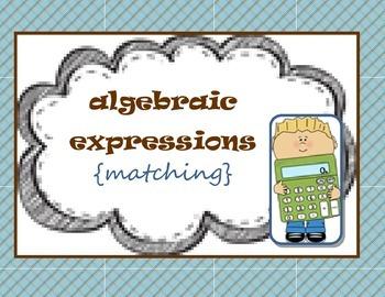 Algebraic expressions {matching} 5.OA.A.2