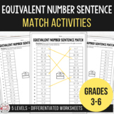 Balancing Equations - Equivalent Number Sentence Match